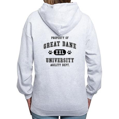 Property of Great Dane Univ. Women's Zip Hoodie