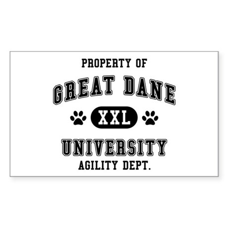 Property of Great Dane Univ. Sticker (Rectangle)