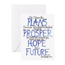 Jeremiah 29:11 Blank Greeting Cards (Pk of 10)