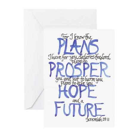 Jeremiah 29:11 Blank Greeting Cards (Pk of 10)