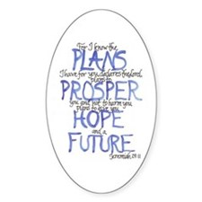 Jeremiah 29:11 Stickers (Oval 10 pk)