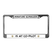Co-pilot: Miniature Schnauzer License Plate Frame