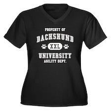 Property of Dachshund Univ. Women's Plus Size V-Ne