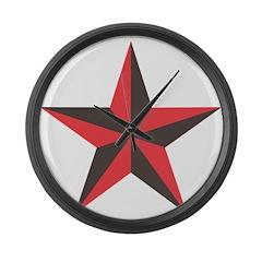 Nautical Star Large Wall Clock