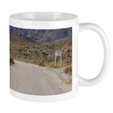 Groom Lake Road Warning Signs Mug
