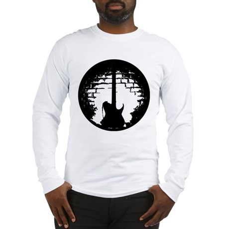 Guitar Silhouette Long Sleeve T-Shirt