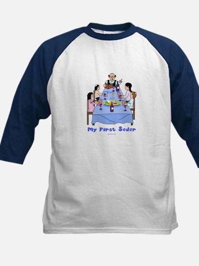 First Seder Jewish Kids Kids Baseball Jersey