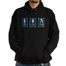 Dark Hooded Sweatshirt
