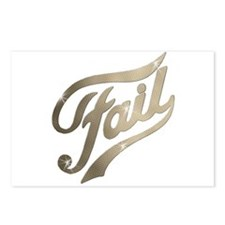 Fame - Fail gold Postcards (Package of 8)
