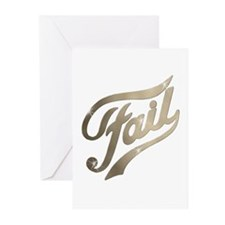 Fame - Fail gold Greeting Cards (Pk of 10)