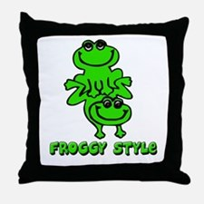 Froggy style Throw Pillow