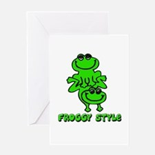 Froggy style Greeting Card