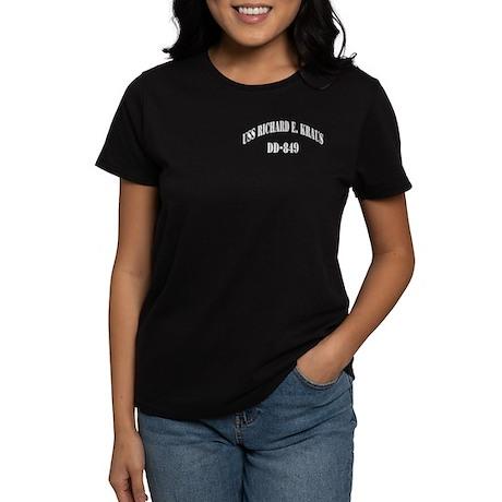 USS RICHARD E. KRAUS Women's Dark T-Shirt
