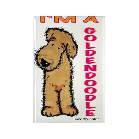 I'm a Goldendoodle Rectangle Magnet (10 pack)