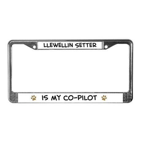 Co-pilot: Llewellin Setter License Plate Frame