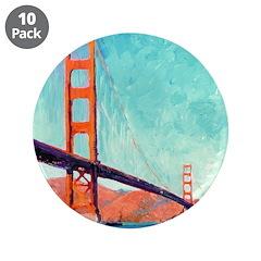 "Golden Gate Bridge 3.5"" Button (10 pack)"