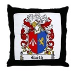 Barth Coat of Arms Throw Pillow