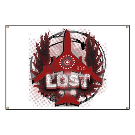 Lost TV Wings and Plane Banner