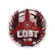 "Lost TV Wings and Plane 3.5"" Button"