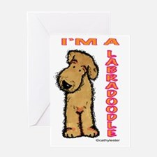 I'm a Labradoodle Greeting Card