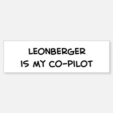 Co-pilot: Leonberger Bumper Car Car Sticker