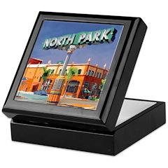 North Park Sign Keepsake Box