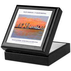 San Diego Sunset Tile Box