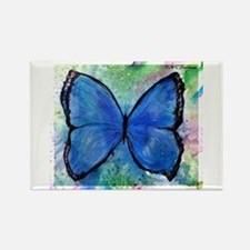 Blue Butterfly, Rectangle Magnet