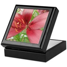 Red Asiatic Lily Keepsake Box