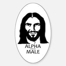 Jesus Alpha (Omega) Male Decal