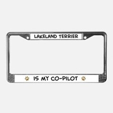 Co-pilot: Lakeland Terrier License Plate Frame