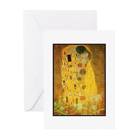 Gustav Klimt 'the Kiss' Card Greeting Cards