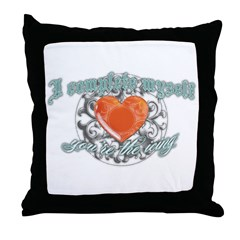 You Complete Me... uhm! Throw Pillow