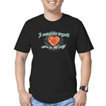 You Complete Me... uhm! Men's Fitted T-Shirt (dark