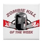 Zombie Kill Of The Week Tile Coaster