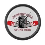 Zombie Kill Of The Week Large Wall Clock