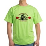 Zombie Kill Of The Week Green T-Shirt