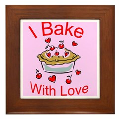 I Bake with Love (2) Framed Tile