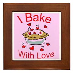 I Bake with Love (2) Framed Tile