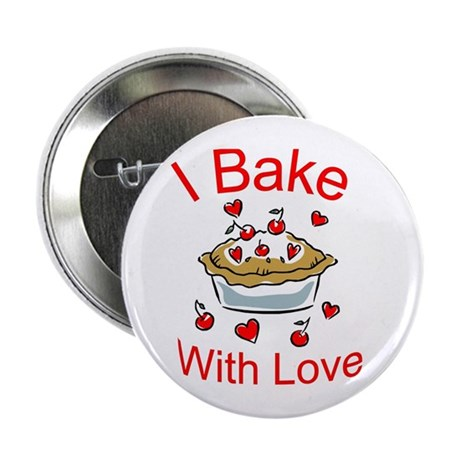 """I Bake with Love (1) 2.25"""" Button (100 pack)"""