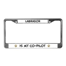 Co-pilot: Labrador License Plate Frame
