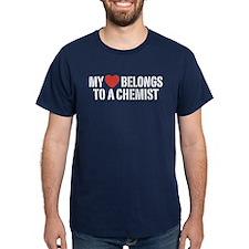 My Heart Belongs To A Chemist T-Shirt