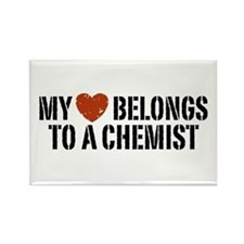 My Heart Belongs To A Chemist Rectangle Magnet