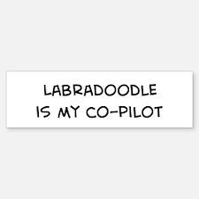 Co-pilot: Labradoodle Bumper Bumper Bumper Sticker