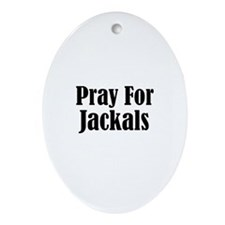 Pray For Jackals Oval Ornament