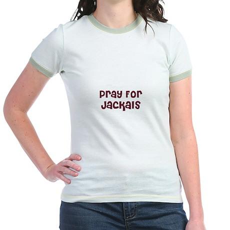Pray For Jackals Jr. Ringer T-Shirt
