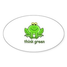 Think Green Frog Decal
