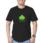 Think Green Frog Men's Fitted T-Shirt (dark)