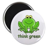 Think Green Frog Magnet
