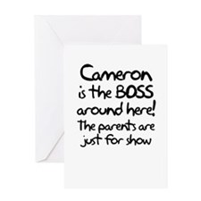 Cameron is the Boss Greeting Card